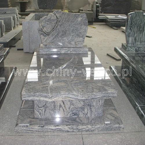 Nagrobek z granitu China Juparana
